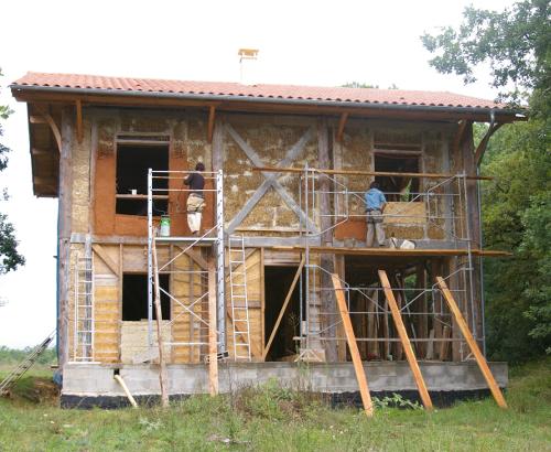 construction ecologique maison paille autoconstruction chantier participatif